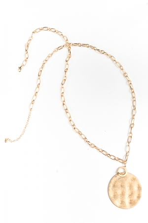 Disk Chain Necklace, Gold