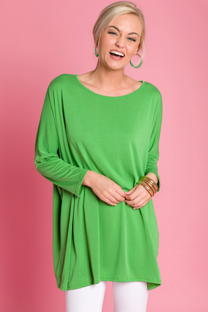 Femme Dolman Tunic, Green