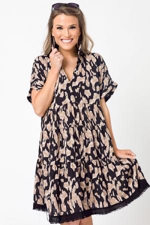 Black Leopard Dress