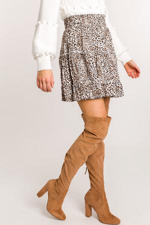 Tiered Cheetah Skirt