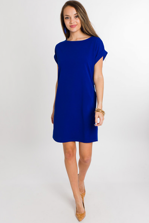 Emma Pocket Dress, Royal