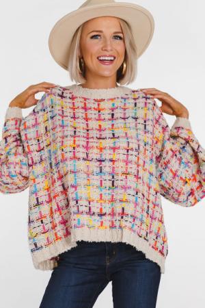 Sprinkles Tweed Square Sweater
