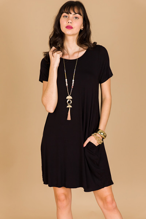 Swing of Things Dress, Black