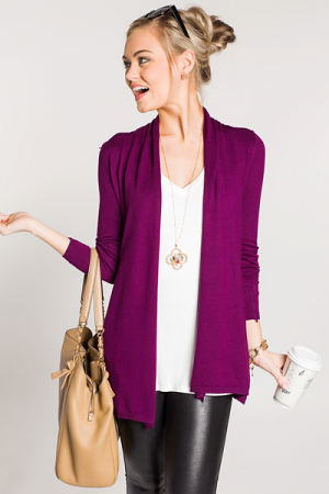 Pretty in Plum Cardi