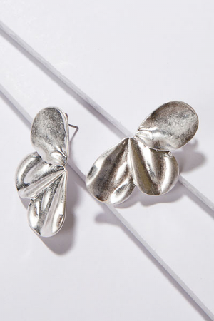 3 Petal Post Earring, Silver