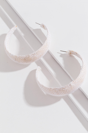Woven Hoops, White