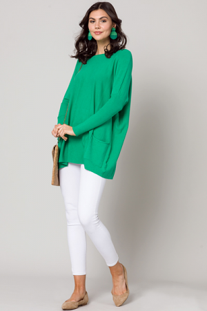Double Pocket Sweater, Green