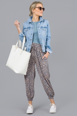 Crazy About You Joggers, Blue