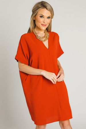 Classic Karlie Dress, Rust