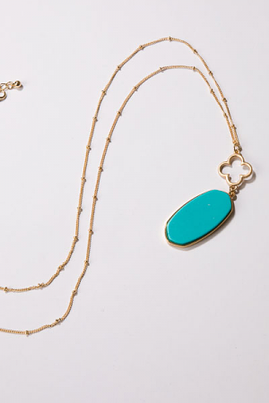 Clover Necklace, Turquoise