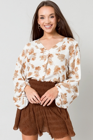 Shimmer Smock Skirt, Brown