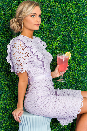 Laced in Lavender Sheath Dress
