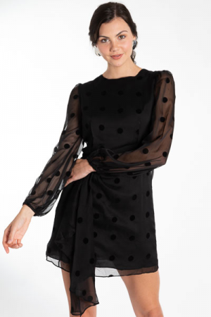 Sheer Spots Party Dress