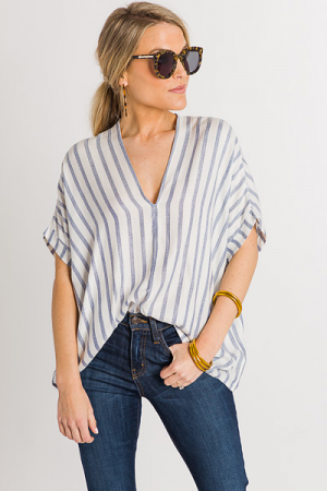 Washed Up Stripe Top