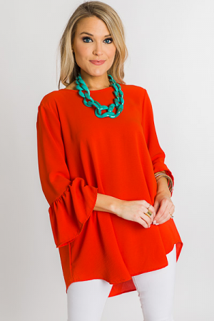 Bethany Tunic, Red