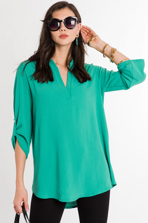 Tabby Tunic, Emerald