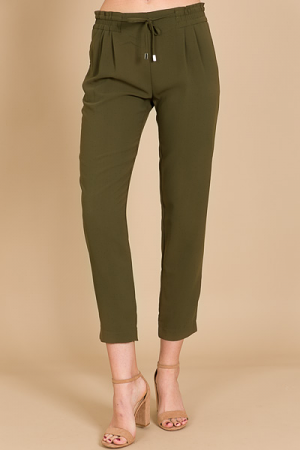 Solid Cigarette Pant, Army