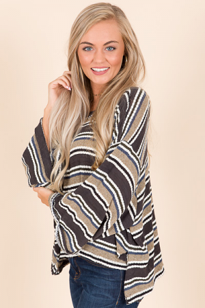 Oversized Striped Thermal