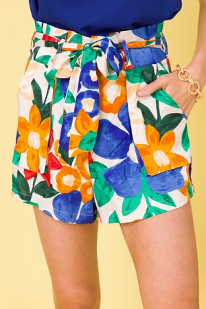 Bold Pleat Waist Shorts