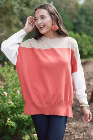 Fall Colorblock Sweater