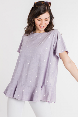 Lilac Dotted Tee