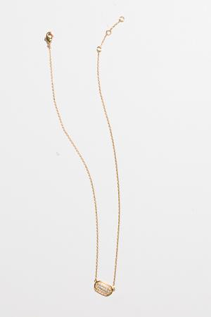 Lucky Necklace, Pave Oval