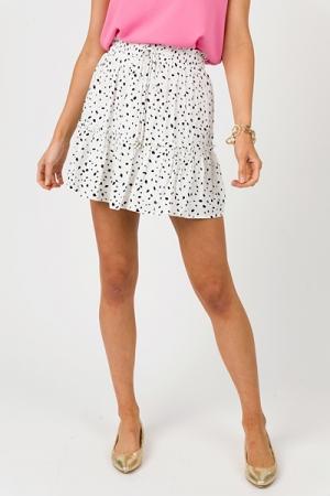 Harper Spotted Skirt, Off White