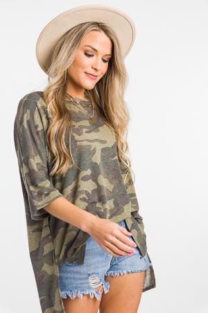Army Print Tunic, Green