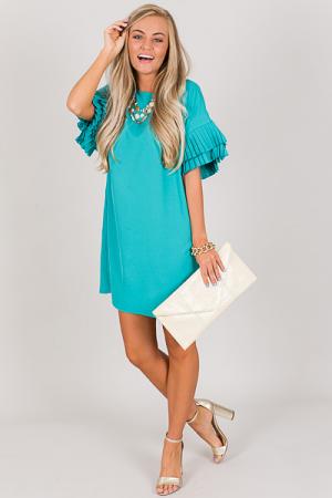 Two Fold Dress, Aqua