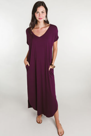 Oversized Pocket Maxi, Plum