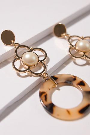Pearl Tortoise Earrings