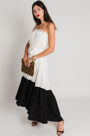 Feel the Flame Strapless Dress, White