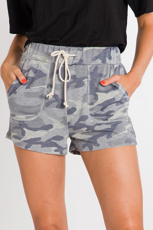 Camo Pocket Shorts, Grey