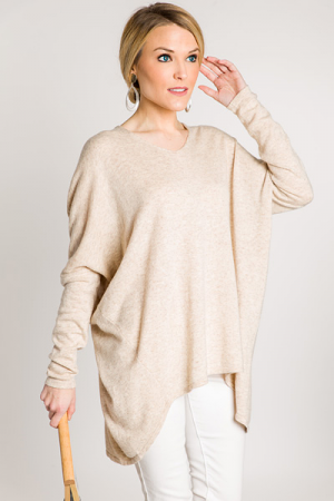 With Ease Sweater, Beige