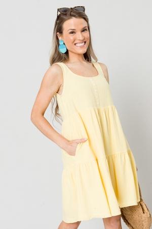 Day Date Dress, Yellow