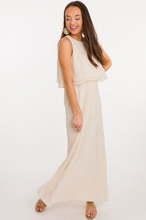 Cream Dream Solid Maxi