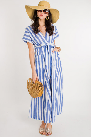 Walk on the Beach Button Maxi