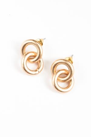 Interlock Earrings, Gold