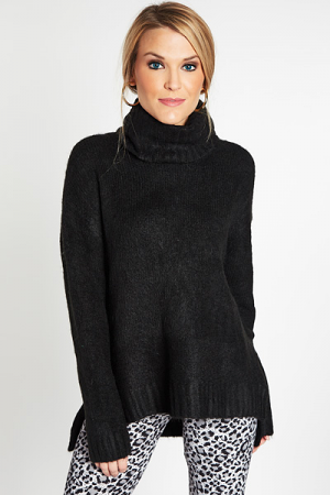 Great Adventure Turtleneck, Black
