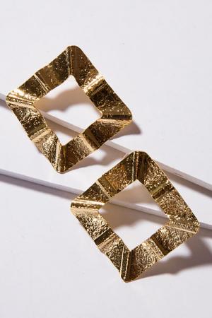 T. Jewels Accordion Square Earring