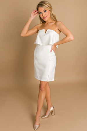 Classic Ivory Bodycon Dress
