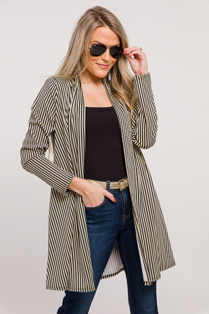 Stripes Open Topper, Black Taupe