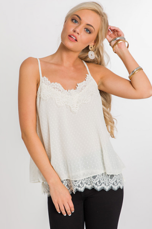 Dots and Lace Tank