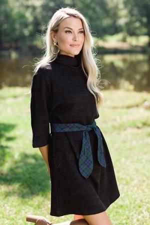 Autumn Air Knit Dress, Black