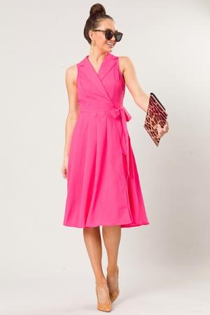 Katy Wrap Midi, Pink