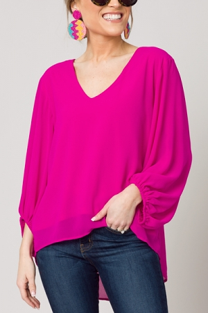 Evelyn Blouse, Neon Berry