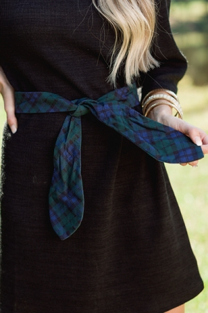 Holiday Bow Belt, Green