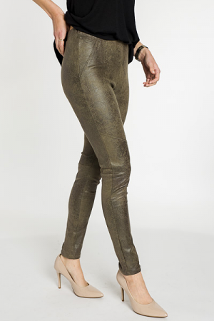 Laney leather Leggings, Olive