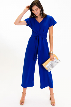 V Seam Jumpsuit, Royal