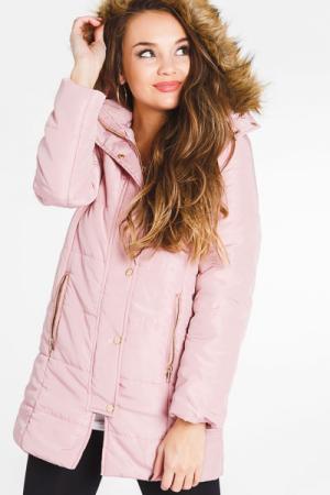 Puffer Fur Jacket, Mauve